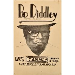 Bo Diddley Storm Ritz Theater Poster Jim Franklin