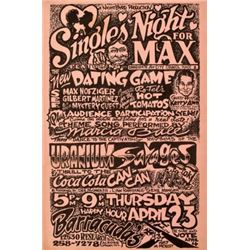 Singles Night For Max Poster Micael Priest