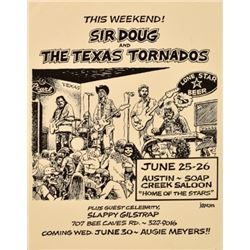 Sir Doug Sahm Texas Tornadoes Soap Creek Poster