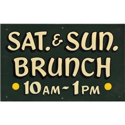 Sat & Sun Brunch Painted Wooden Sign