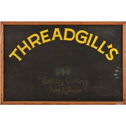 Threadgill's Chalkboard