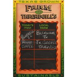 Farm to Threadgill's Chalk Menu Board