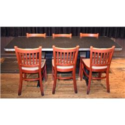 Threadgill's 6 Top Table and Chairs