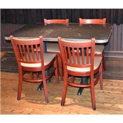 Threadgill's Five 4 Top Tables and Chairs