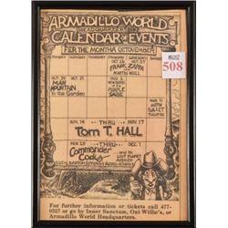 Armadillo World Headquarter Calendar Micael Priest