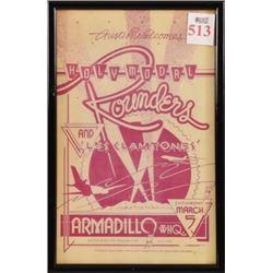 Rounders Armadillo World HQ Poster Bill Narum