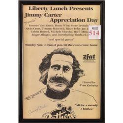 Jimmy Carter Liberty Lunch Poster Henry Gonzalez