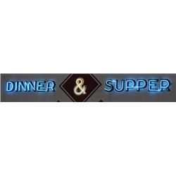 Dinner & Supper Neon Sign