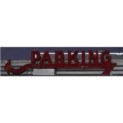 Parking Arrow Neon Sign