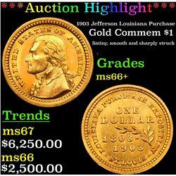 ***Auction Highlight*** 1903 Jefferson Louisiana Purchase Gold Commem Dollar .$1 Graded GEM   Unc