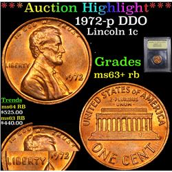 ***Auction Highlight*** 1972-p DDO Lincoln Cent 1c Graded Select+ Unc RB By USCG (fc)