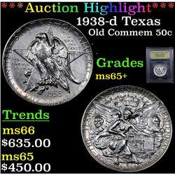 ***Auction Highlight*** 1938-d Texas Old Commem Half Dollar 50c Graded GEM+ Unc By USCG (fc)