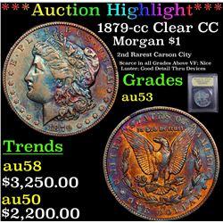 ***Auction Highlight*** 1879-cc Clear CC Morgan Dollar $1 Graded Select AU By USCG (fc)