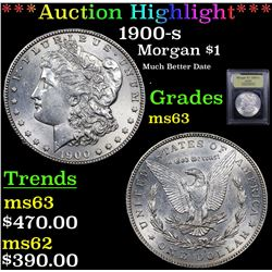 ***Auction Highlight*** 1900-s Morgan Dollar $1 Graded Select Unc By USCG (fc)