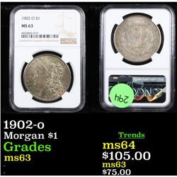 NGC 1902-o Morgan Dollar $1 Graded ms63 By NGC