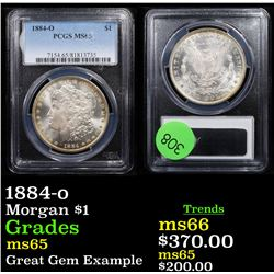 1884-o Morgan Dollar $1 Graded ms65 By PCGS