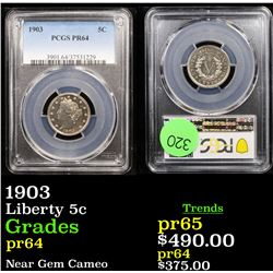Proof PCGS 1903 Liberty Nickel 5c Graded pr64 By PCGS