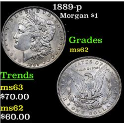 1889-p Morgan Dollar $1 Grades Select Unc