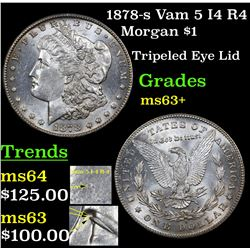 1878-s Vam 5 I4 R4 Morgan Dollar $1 Grades Select+ Unc