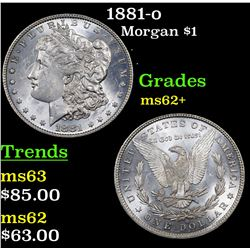 1881-o Morgan Dollar $1 Grades Select Unc