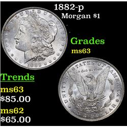 1882-p Morgan Dollar $1 Grades Select Unc