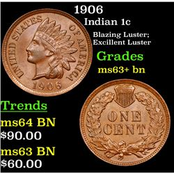 1906 Indian Cent 1c Grades Select+ Unc BN