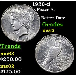 1926-d Peace Dollar $1 Grades Select Unc