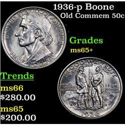 1936-p Boone Old Commem Half Dollar 50c Grades GEM+ Unc