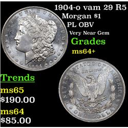 1904-o vam 29 R5 Morgan Dollar $1 Grades Choice+ Unc