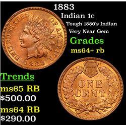 1883 Indian Cent 1c Grades Choice+ Unc RB