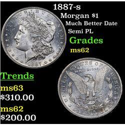 1887-s Morgan Dollar $1 Grades Select Unc