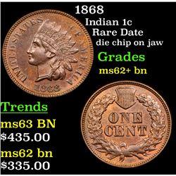 1868 Indian Cent 1c Grades Select Unc BN