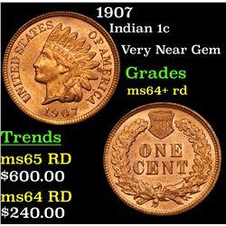 1907 Indian Cent 1c Grades Choice+ Unc RD