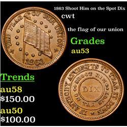 1863 Shoot Him on the Spot Dix Civil War Token 1c Grades Select AU