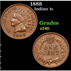 1888 Indian Cent 1c Grades xf