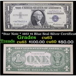 *Star Note * 1957 $1 Blue Seal Silver Certificate Grades