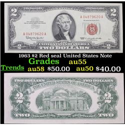 1963 $2 Red seal United States Note Grades