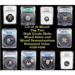 10 High Graded Top Tier Slabed Coins
