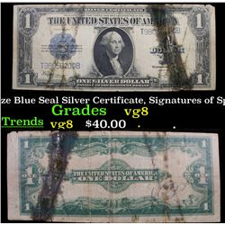 1923 $1 large size Blue Seal Silver Certificate, Signatures of Speelman & White Grades