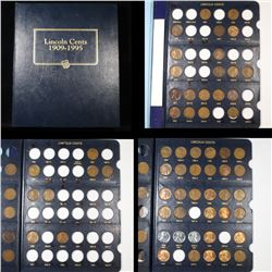 ***Auction Highlight*** Near complete Lincoln cent book 1909-1995 145 coins (fc)