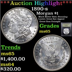 ***Auction Highlight*** 1890-s Morgan Dollar $1 Graded GEM Unc By USCG (fc)