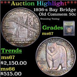***Auction Highlight*** 1936-s Bay Bridge Old Commem Half Dollar 50c Graded GEM++ Unc By USCG (fc)