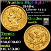 ***Auction Highlight*** 1846-o Gold Liberty Quarter Eagle $2 1/2 Graded Select+ Unc By USCG (fc)
