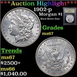 ***Auction Highlight*** 1902-p Morgan Dollar $1 Graded GEM++ Unc By USCG (fc)