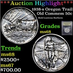 ***Auction Highlight*** 1938-s Oregon Trail Old Commem Half Dollar 50c Graded GEM+++ Unc By USCG (fc