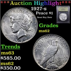 ***Auction Highlight*** 1927-s Peace Dollar $1 Graded Select Unc By USCG (fc)