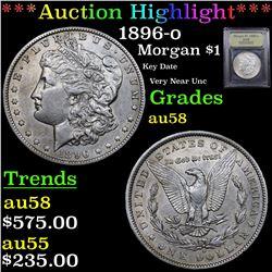 ***Auction Highlight*** 1896-o Morgan Dollar $1 Graded Choice AU/BU Slider By USCG (fc)