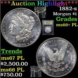 ***Auction Highlight*** 1882-s Morgan Dollar $1 Graded GEM++ PL By USCG (fc)