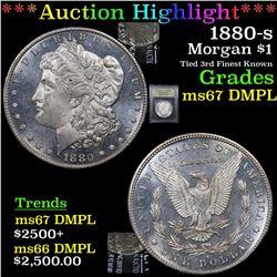 ***Auction Highlight*** 1880-s Morgan Dollar $1 Graded GEM++ DMPL By USCG (fc)