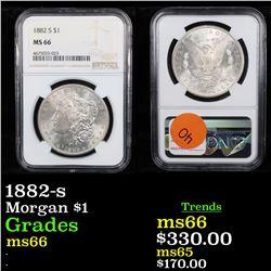 NGC 1882-s Morgan Dollar $1 Graded ms66 By NGC